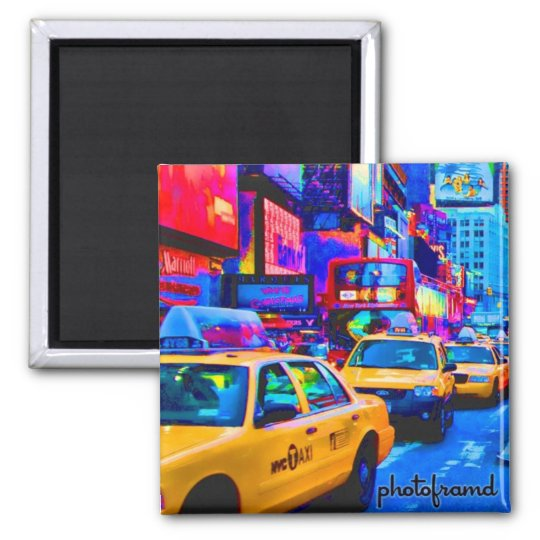 Times Square 1 Pop Square Magnet