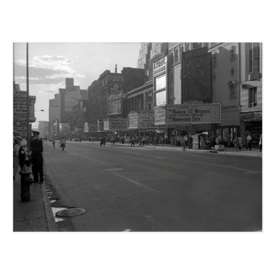 Times Square Adult Exploitation Cult Theatre Postcard