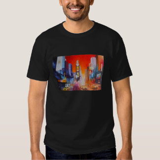 Times Square America Black Tee Shirt