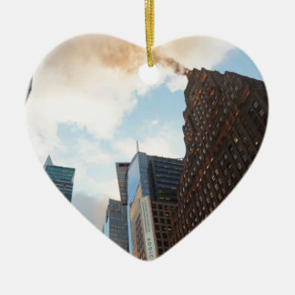 Times Square and the Paramount Building Ceramic Heart Decoration