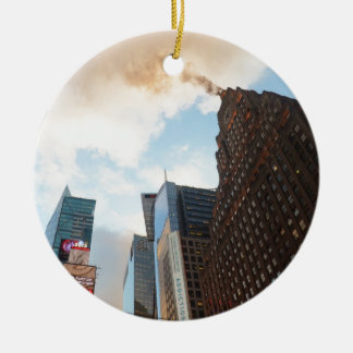 Times Square and the Paramount Building Round Ceramic Decoration