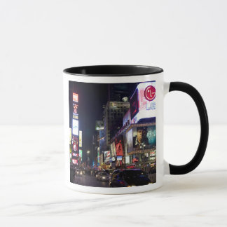 Times Square at night in Manhattan, New York Mug