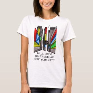 Times Square Ball Drop Funny Illustration New York T-Shirt