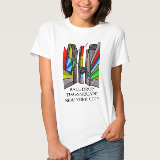 Times Square Ball Drop Funny Illustration New York Tee Shirt