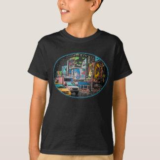 Times Square Billboards Kids Dark T-Shirt