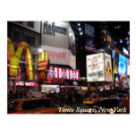 Times Square by night postcard