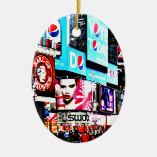 Times Square Ceramic Oval Decoration