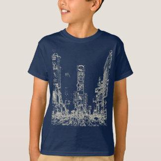 Times Square Dark Kids T Shirts