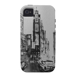 Times Square in Black and White iPhone Case Tough Vibe iPhone 4 Cases