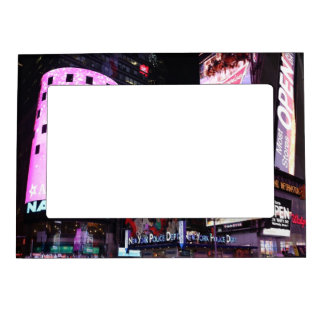 Times Square in New York City (pink) Magnetic Picture Frame