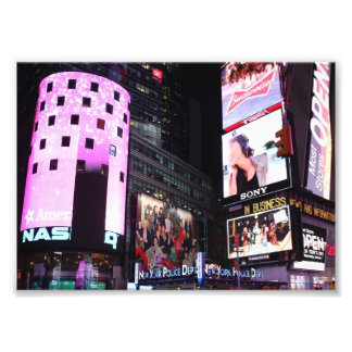 Times Square in New York City (pink) Photograph