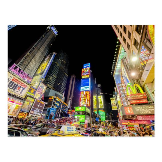 Times Square in the City that Never Sleeps Postcard