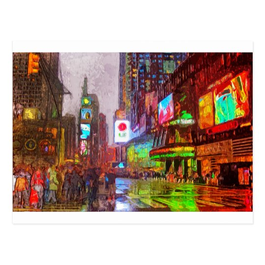 Times Square Lights Postcard