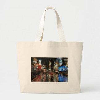 times square mosaic tote bag