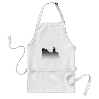 times square new years standard apron