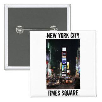 Times Square New York City Pinback Button