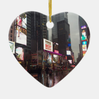 Times Square New York City NYC Neon Signs Photo Christmas Ornament