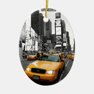Times Square New York City USA Ceramic Oval Decoration