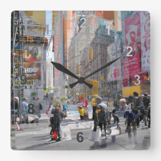 Times Square NY. Square Wall Clock