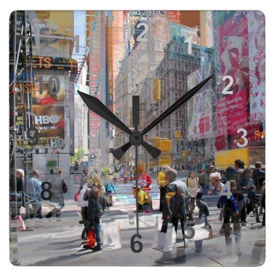Times Square NY. Wall Clock