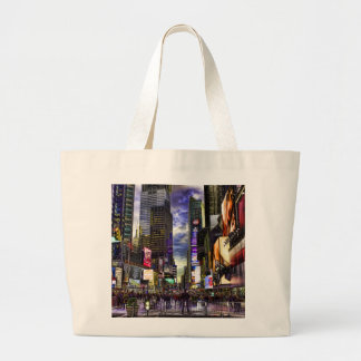 Times Square Photo in HDR Canvas Bags