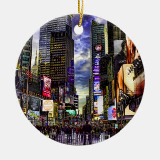 Times Square Photo in HDR Christmas Ornament