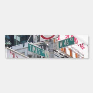 Times Square Signs Bumper Sticker