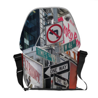 Times Square Signs Messenger Bag