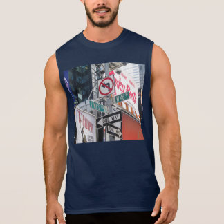 Times Square Signs Sleeveless Shirts