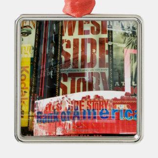 Times Square Silver-Colored Square Decoration