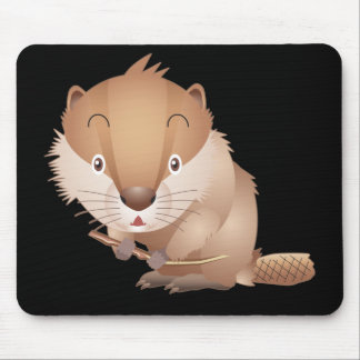 Timid Beaver Mouse Pad