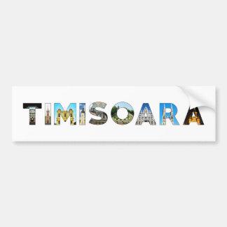 timisoara city romania landmark inside text symbol bumper sticker