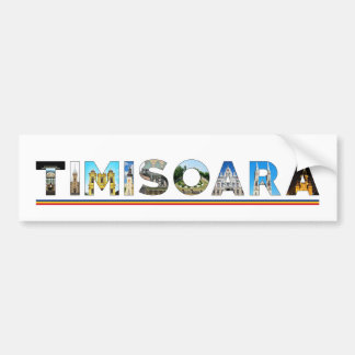 timisoara city romania landmark inside text symbol bumper sticker