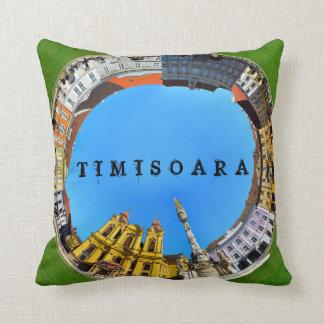 timisoara city romania union square panorama piata cushion