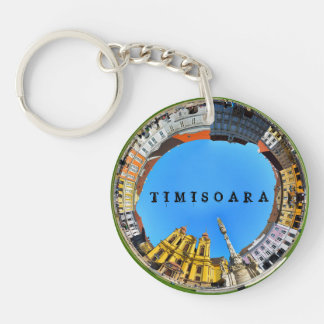 timisoara city romania union square panorama piata key ring