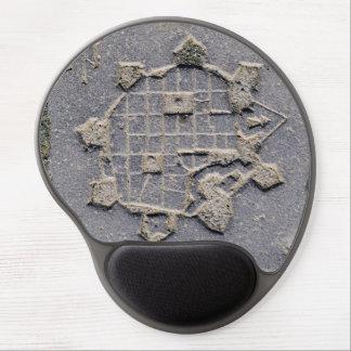Timisoara Romania citadel map paving stone ancient Gel Mouse Mat
