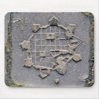 Timisoara Romania citadel map paving stone ancient Mouse Mat