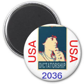 Timmy Naval for 2036 president 6 Cm Round Magnet