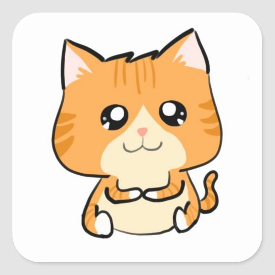 Timmy the Cat! Square Sticker