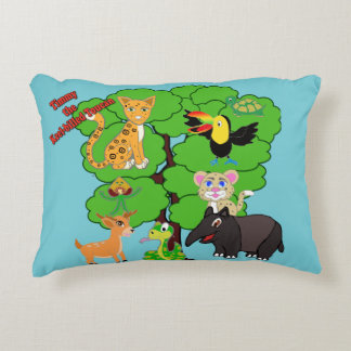 Timmy the Keel-billed toucan  pillow