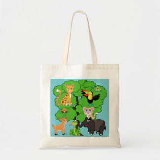 Timmy the Keel-billed Toucan tote bag