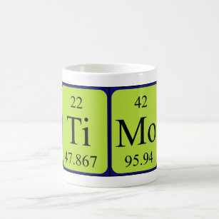 Name spelled with chemical elements mugs coffee mugs cups zazzle uk timo periodic table name mug urtaz Image collections