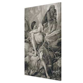 Timon and Apemantus, from Timon of Athens by Willi Canvas Print