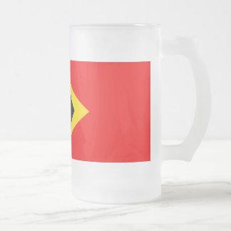 Timor Leste Flag Frosted Glass Mug