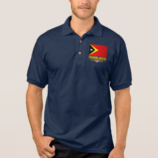 Timor-Leste Flag Polo T-shirts