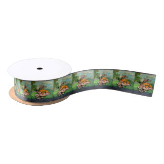 TIMOTATI CUTE CARTOON FUNNY SATIN RIBBON