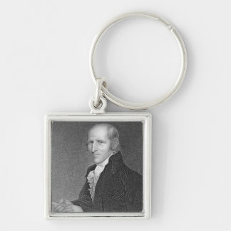 Timothy Pickering (1745-1829) engraved by Thomas B Silver-Colored Square Key Ring