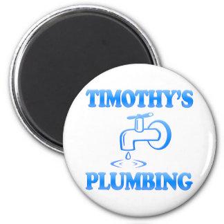 Timothy's Plumbing 6 Cm Round Magnet