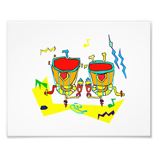Timpani drums in abstract colours, typmani drum photographic print