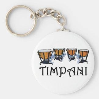 Timpani Basic Round Button Key Ring